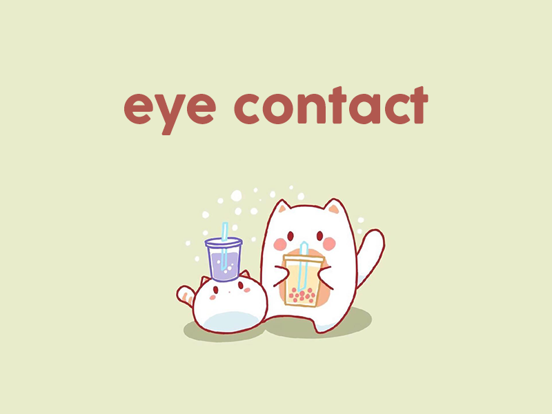 eye contact meaning