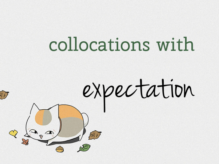 "Collocations với ""expectation"""