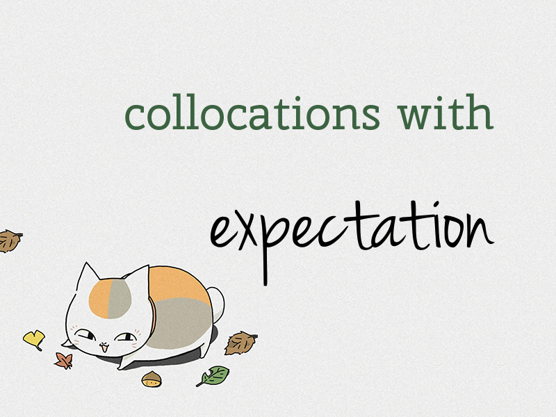 collocations with expectation